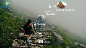 how to reach kanatal in maps